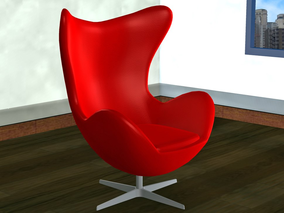 Egg chair3d