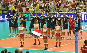 Egypt men's national volleyball team - Egypt men's national volleyball team, Poznań 2008.