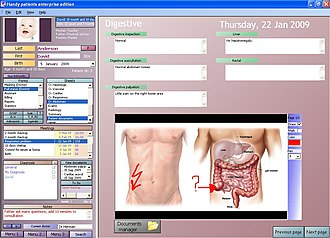 Electronic health record - Sample view of an electronic health record