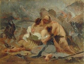 Eliseu Visconti - Image: Eliseu Visconti Cena bíblica (Ló e suas filhas)