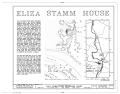 Eliza Stamm House, Gruber Road (Penn Township), Mount Pleasant, Berks County, PA HABS PA,6-MTPLES.V,2- (sheet 1 of 6).png