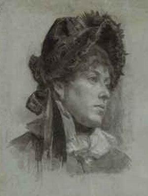 Gabrielle D. Clements - Ellen Day Hale, Portrait of a Woman, said to be Gabrielle Clements, 1883, Paris