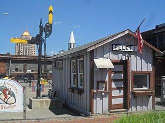 Virginian Railway - Virginian Railway freight depot from Ellett, now preserved at the Virginia Museum of Transportation in Roanoke, VA.