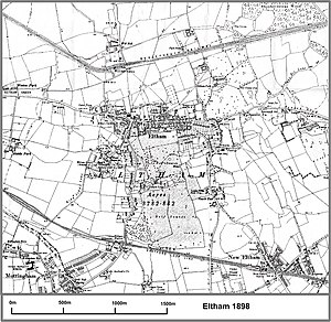 Eltham railway station - Image: Eltham map 1898