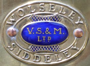Frederick Wolseley - Image: Emblem Wolseley Siddeley V S & M copy