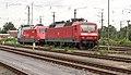 Emmerich DB 120 145-8 en Werbelok 101 089-1 buiten dienst (9819271124).jpg