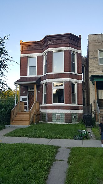 Emmett Till - In mid-1955, Emmett Till lived with his mother in this Chicago two-flat at 6427 S. St. Lawrence Avenue