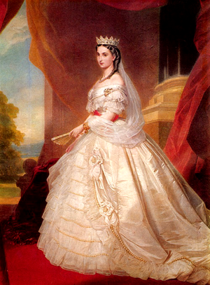 Belgium–Mexico relations - Portrait of Charlotte of Belgium as Empress of Mexico; 1864