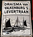 Enamel advertising sign, Draisma van Valkenburg's Levertraan.JPG