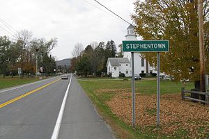 English: Entering Stephentown New York