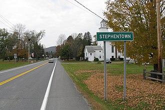 Stephentown, New York - Entering Stephentown