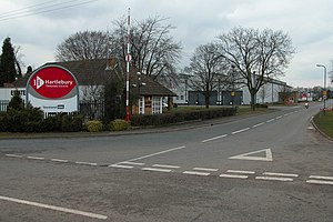 Entrance to Hartlebury Trading Estate.