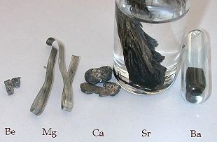 Alakline earth metals in the