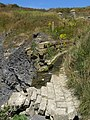 Eroded stone channel, Freshwater Steps - geograph.org.uk - 900669.jpg