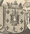 Escudo da Galiza em Regnorum Castellae Veteris, Legionis, et Gallaeciae de Frederick de Wit (1672).jpg
