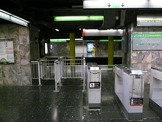 Drassanes (Barcelona Metro) - Image: Estació de Drassanes del metro de Barcelona