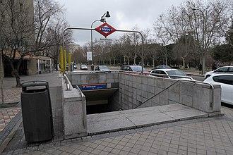 Simancas (Madrid Metro) - Image: Estación de Simancas