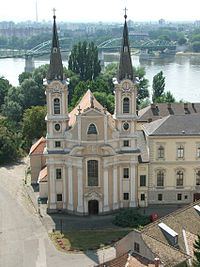 Jesuit Church in the city of Esztergom, Hungary