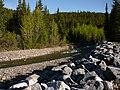 Etherington Creek Provincial Recreation Area, Alberta, Canada - creek bank rock.jpg