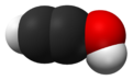 Spacefill model of ethynol