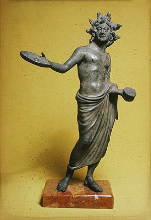 Seven bowls - Statue of an Etruscan priest, holding a phialē from which he is to pour a libation; the plagues of Revelation are poured out on the world like offerings.