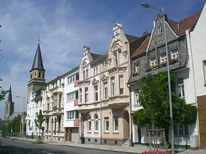 Euskirchen - Image: Euskirchen fasadoj en Kölner Straße