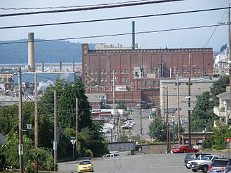 Kimberly-Clark - The Kimberly-Clark paper plant on the Everett, Washington, waterfront.
