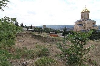 Khojivank Pantheon of Tbilisi - Excavation adjacent to the Pantheon exposing tombs of Khojivank