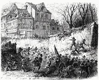 Risquons-Tout - An 1865 illustration of the battle