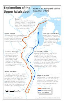 Mississippi river wikipedia route of the marquette jolliete expedition of 1673 fandeluxe Gallery