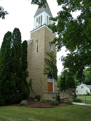 Exterior view of Oldest Scandinavian Church in Cambridge, Wisconsin..jpg