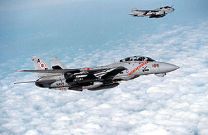 Operation Southern Watch - Image: F 14B VF 102 EA 6B OSW 1998