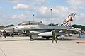 F-16B of Belgian Air Force with marks for 20 years of the Operational Conversion Unit (3569945335).jpg