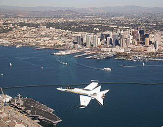 San Diego County, California - Image: FA18CHornet Over San Diego Nov 08