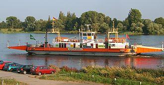Zollenspieker Ferry - The Zollenspieker ferry.