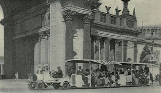 Fageol - Fageol Auto Train or Trackless Train at the Panama–Pacific International Exposition, 1915, San Francisco