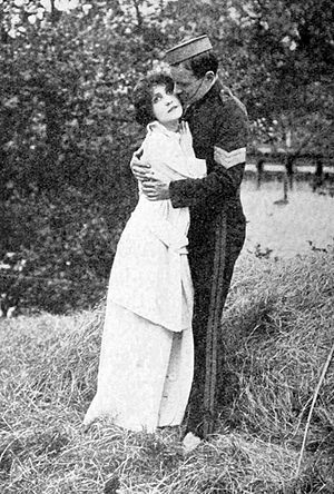 Far from the Madding Crowd (1915 film) - Florence Turner and Henry Edwards in  Far from the Madding Crowd
