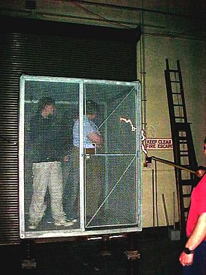 English: The Faraday Cage is in the High volta...