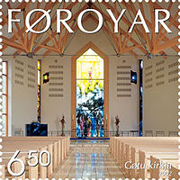 Faroe stamp 426 church of gota.jpg