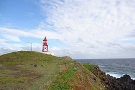 The famous Santa Clara lighthouse (that was once situated on the Tower of Belém) the ex-libris of the small parish