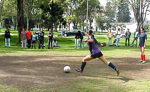 Female soccer at Colombia National University ...