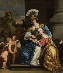 Margarita Trip as Minerva, Instructing her Sister Anna Maria Trip
