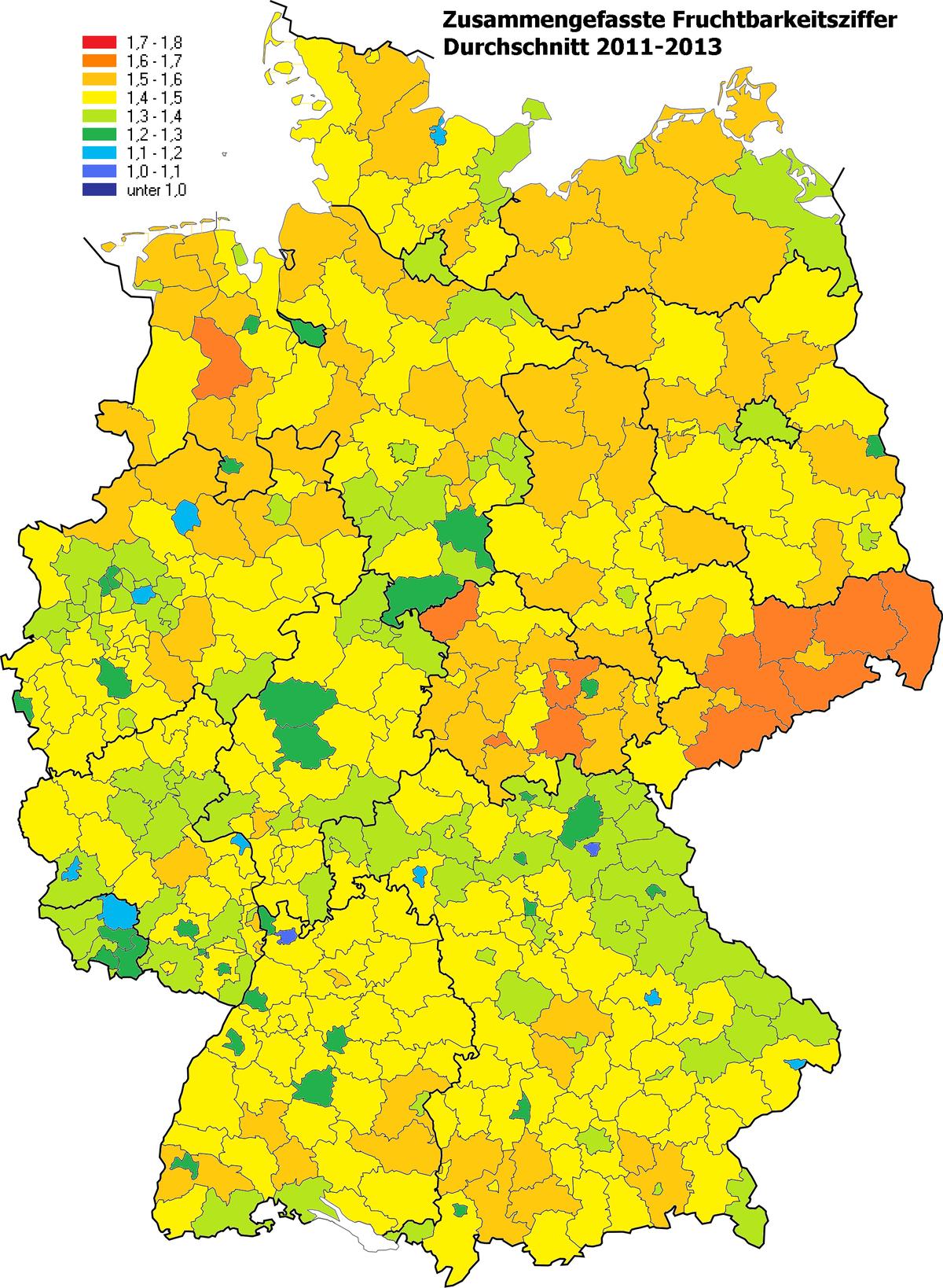wie viele städte in deutschland