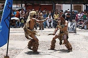 Chichimeca Jonaz people - Members of the Chichimeca Jonaz tribe perform ritual dance