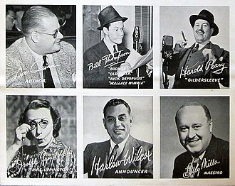 Fibber McGee and Molly - The other cast members circa 1939.