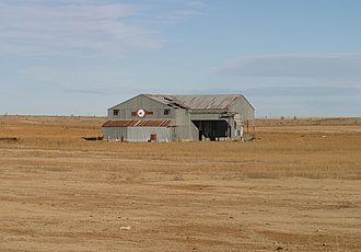 Fieldton, Texas - Fieldton cotton gin, constructed in 1931, now abandoned.