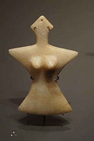 Tepe Hissar - Statuette from Tepe Hissar, Layer III, Alabaster, 2300-1900 b.C.