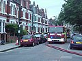 Fire engine in Bolingbroke Road, W14 - geograph.org.uk - 859160.jpg