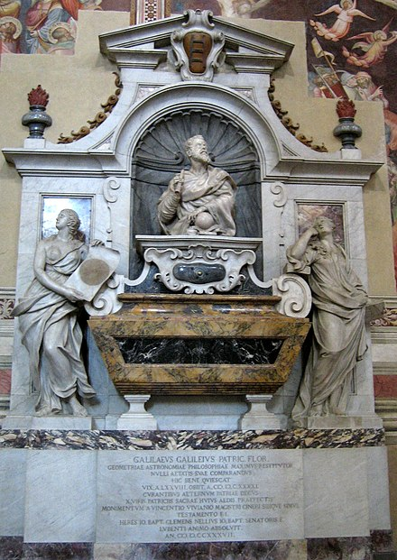 Tomb and monument to Galileo Galilei in the Church of Santa Croce in Florence. Firenze-santa croce galileo.jpg