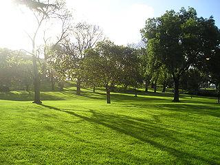 urban park in Melbourne, Victoria, Australia
